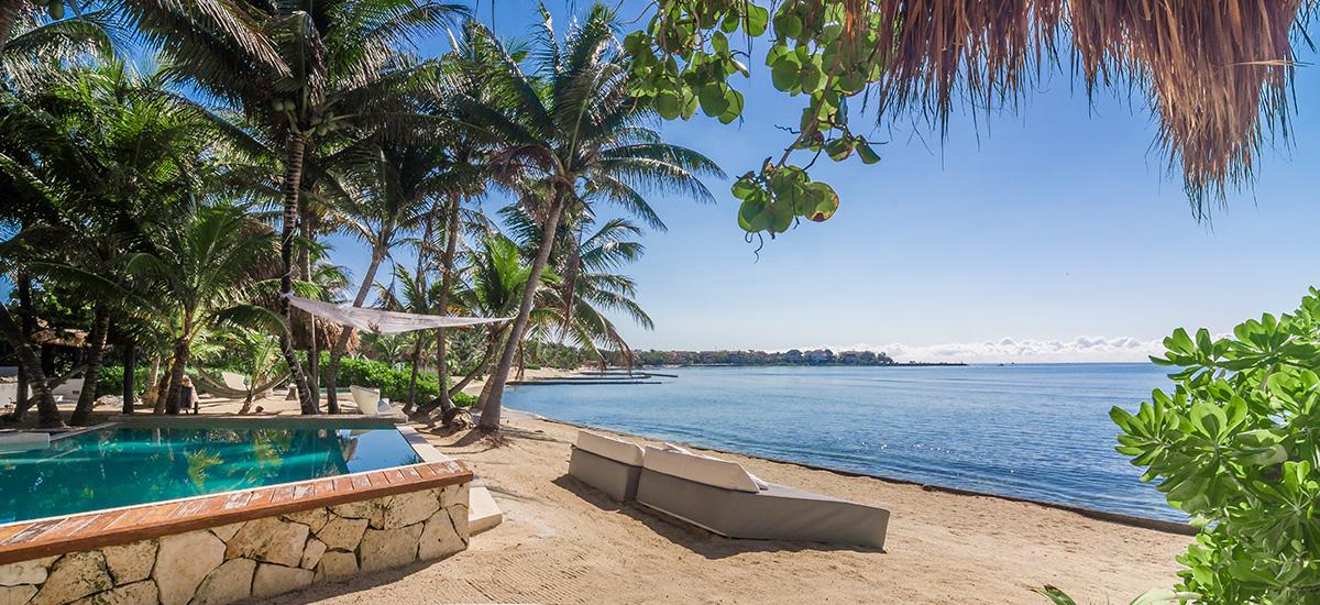 villa zacil na riviera maya beach sofa